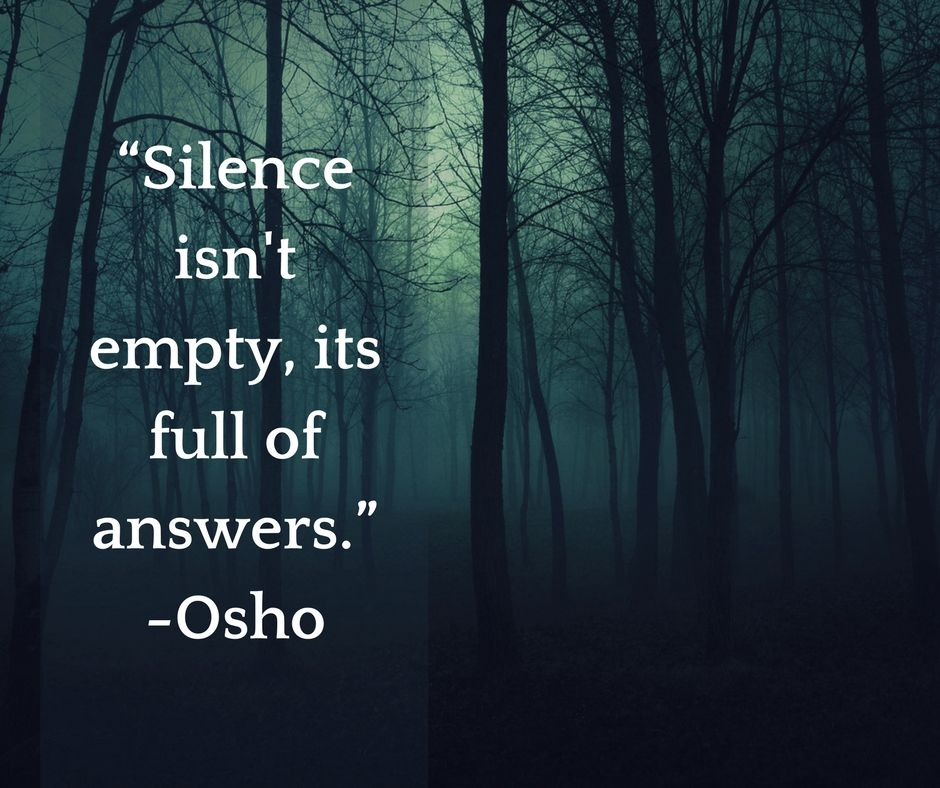 Osho Insight Ar Twitter Silence Isn T Empty Its Full