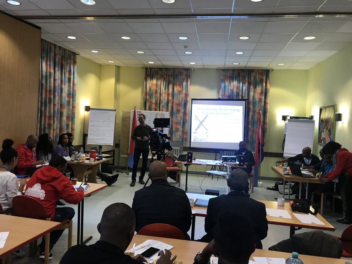 Presentation about Strengthening Media Strategy &amp; Public Diplomacy by @eliasamare #Eritrea #Training #Of #Trainers <br>http://pic.twitter.com/tjtACfaXJS