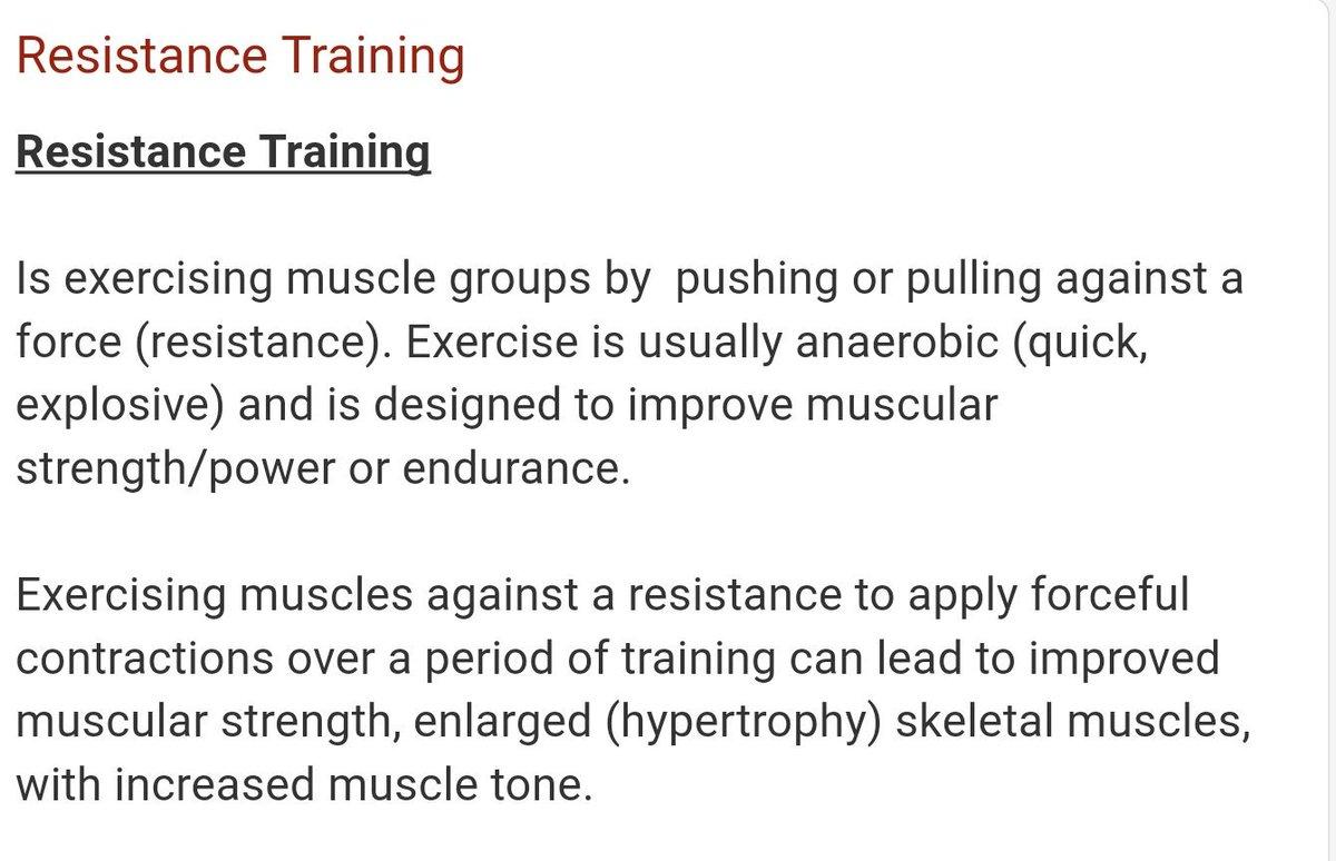 resistance training definition