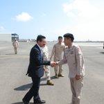 【防衛大臣政務官時の副官、本多2海佐とジブチで再会、業務隊長として頑張っていました。嬉しいですね、敬…