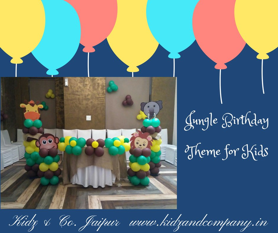 Kidz Co Jaipur on Twitter KidzCo Jungle Birthday Theme to