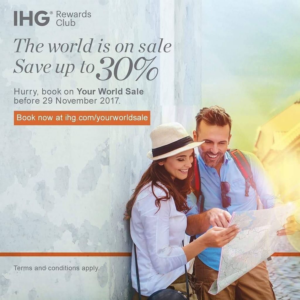 Enjoy up to 30% off room rates from 18 November 2017 to 15 April 2018 at 5,200 IHG® Hotels and Resorts around the … https://t.co/Ua2FoIY04y https://t.co/z38CvTOiee