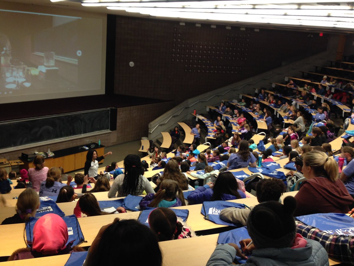 Such an honor to be kicking off our @FEMMESatUM fall capstone @umich event! First up: chemistry @DrRubidium!   We have ~65 group leaders, 21 #STEM lab activities, and 250 4-6 grade girls from southeast Michigan! A fun day of #WomenInSTEM #BLACKandSTEM #RbUmich<br>http://pic.twitter.com/tyjAeCN6zQ &ndash; à Chemistry Building
