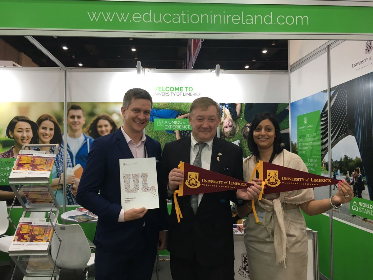 Great to meet Minister Halligan and Ambassador Rodgers at the #ocscexpo2017 in Bangkok today. It shows how important the relationship between @EduIreland and Thai Education is! #StudyAtUL <br>http://pic.twitter.com/YO0XJgo0cv