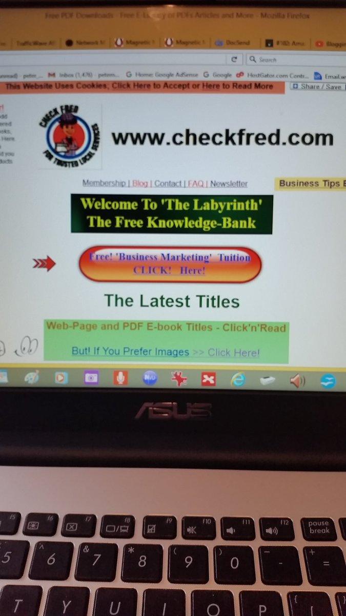 The free #Elibrary at  http:// checkfred.com  &nbsp;   :-)<br>http://pic.twitter.com/qQmbkdlcpg