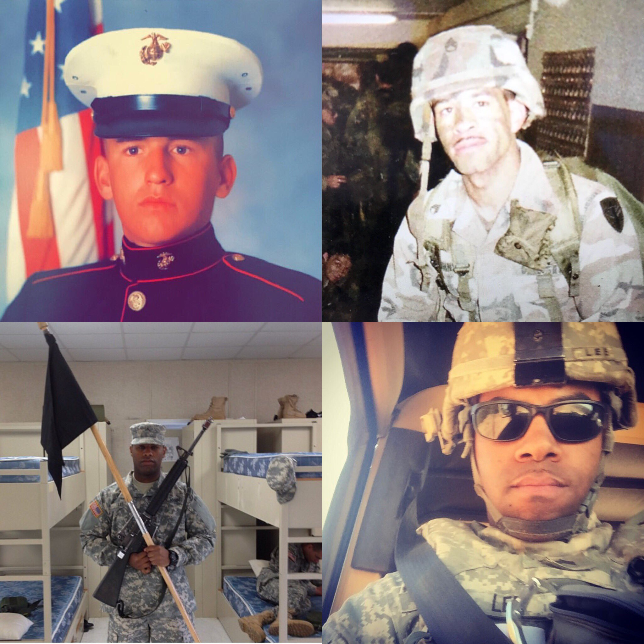 Home of the free because of the BRAVE. Especially proud of these four men in uniform. Happy Veterans Day! https://t.co/S95vAgDi81