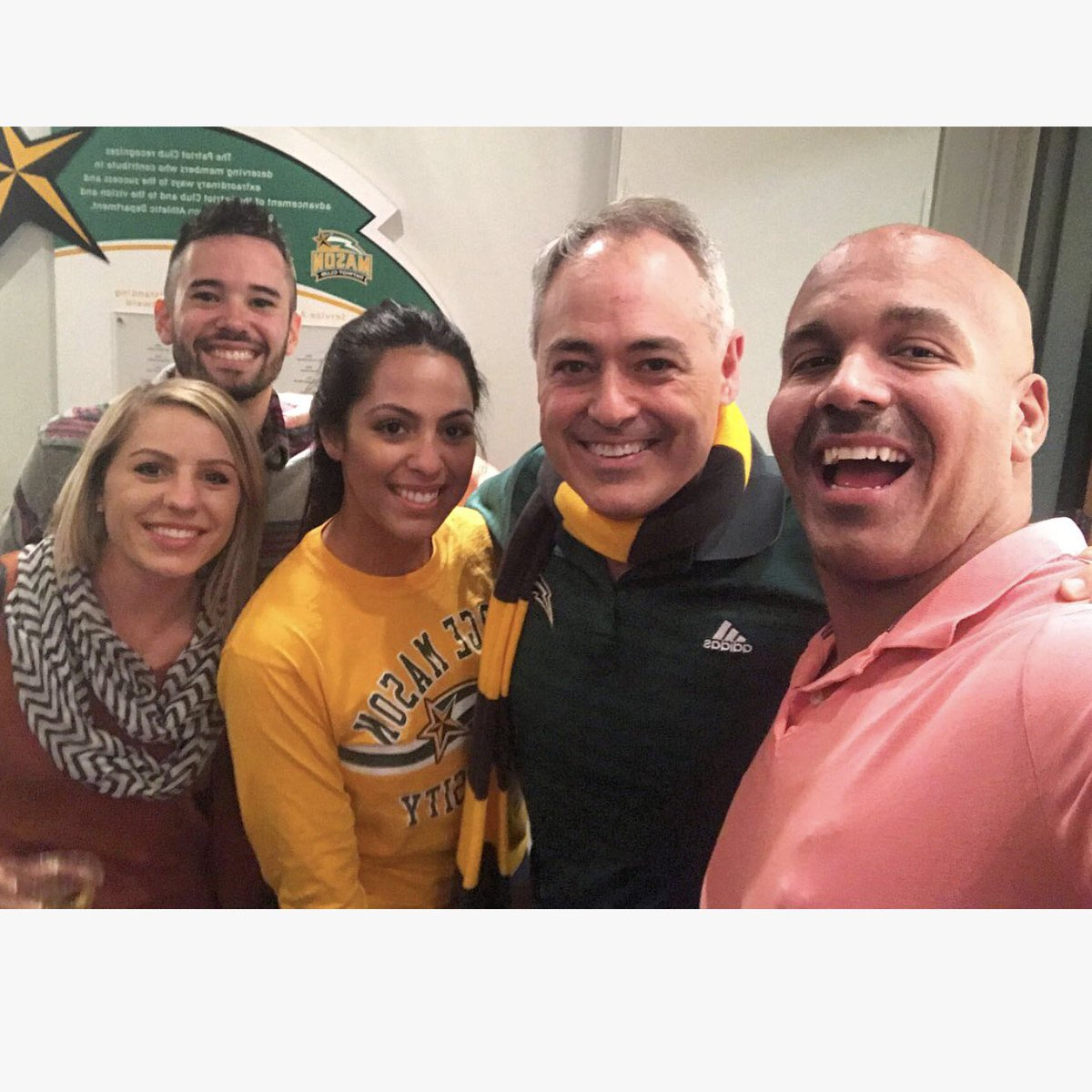 The day I found out I had cancer I went to a GMU basketball game. The day I found out I was cancer free I hung with @CabreraAngel at a Mason game! What a great way to celebrate! #CancerSucks #TrapStrong #GMU <br>http://pic.twitter.com/9bUqFWqWf7