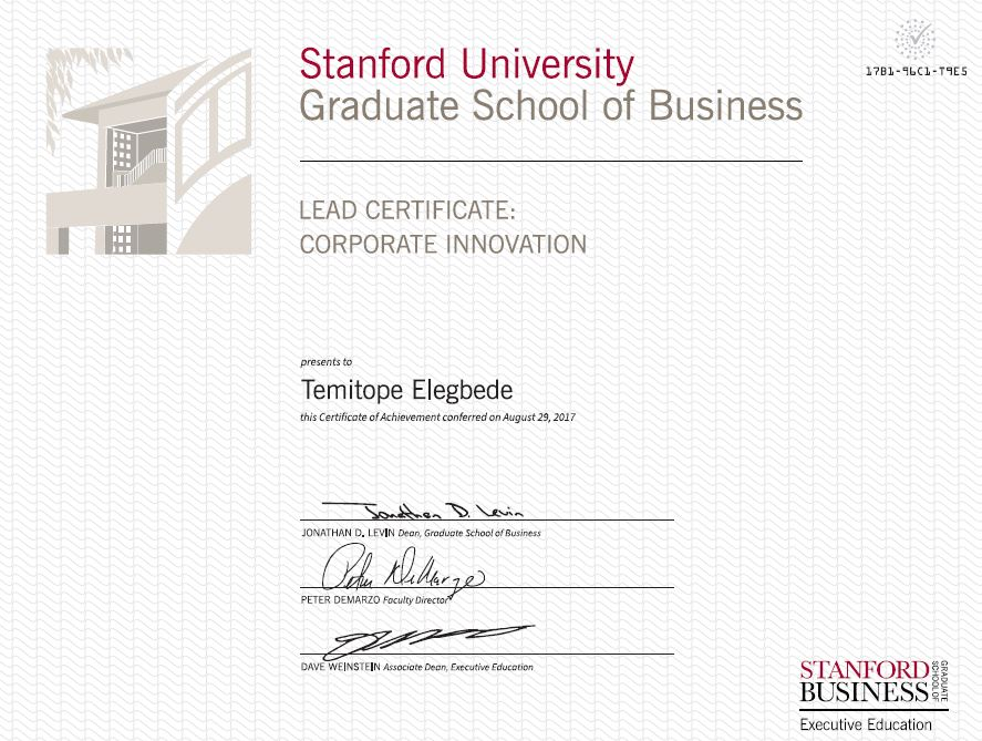 Temitope Elegbede On Twitter Stanfordleaderinnigeria My Lead