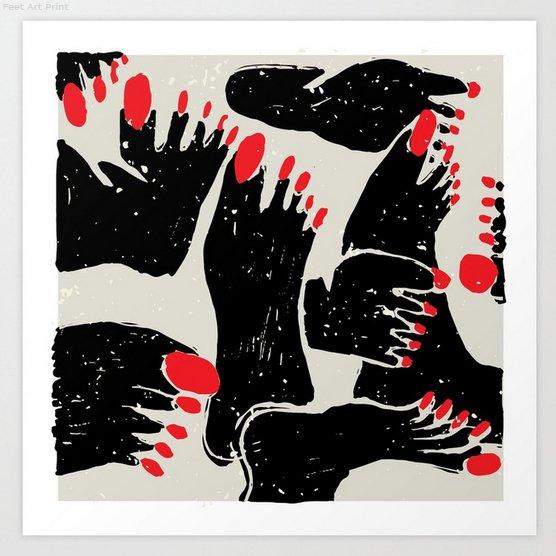 Feet! Art Print available at @society6:  https:// society6.com/product/feet89 7463_print?sku=s6-7966785p4a1v45 &nbsp; …   #feet #foot #distressed #artprint #print #art #zeljkica #society6 #nails #legs #toes #black #rednailpolish #red #nailpolish #drawing #painting #african #tribal #native #tribe<br>http://pic.twitter.com/5MiBpUwxY2