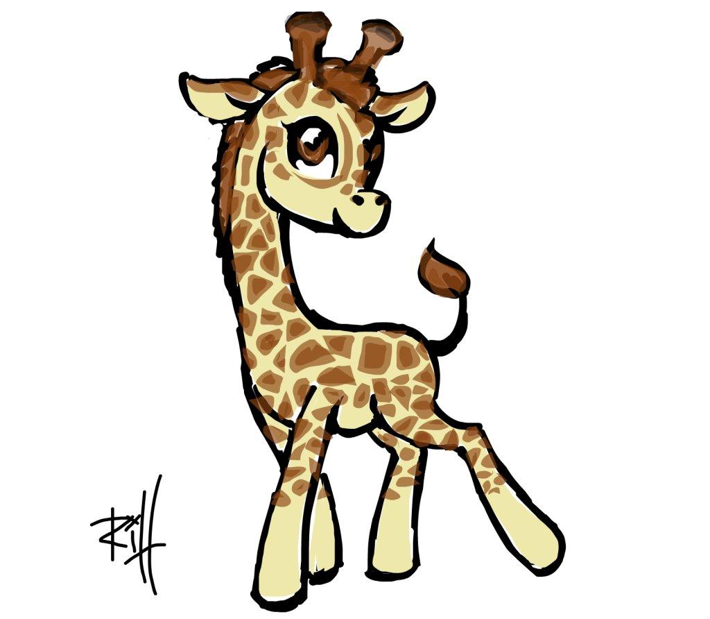 Картинки жирафы нарисованные, день