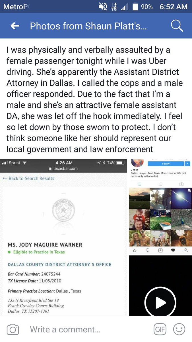 dallas uber driver district attorney