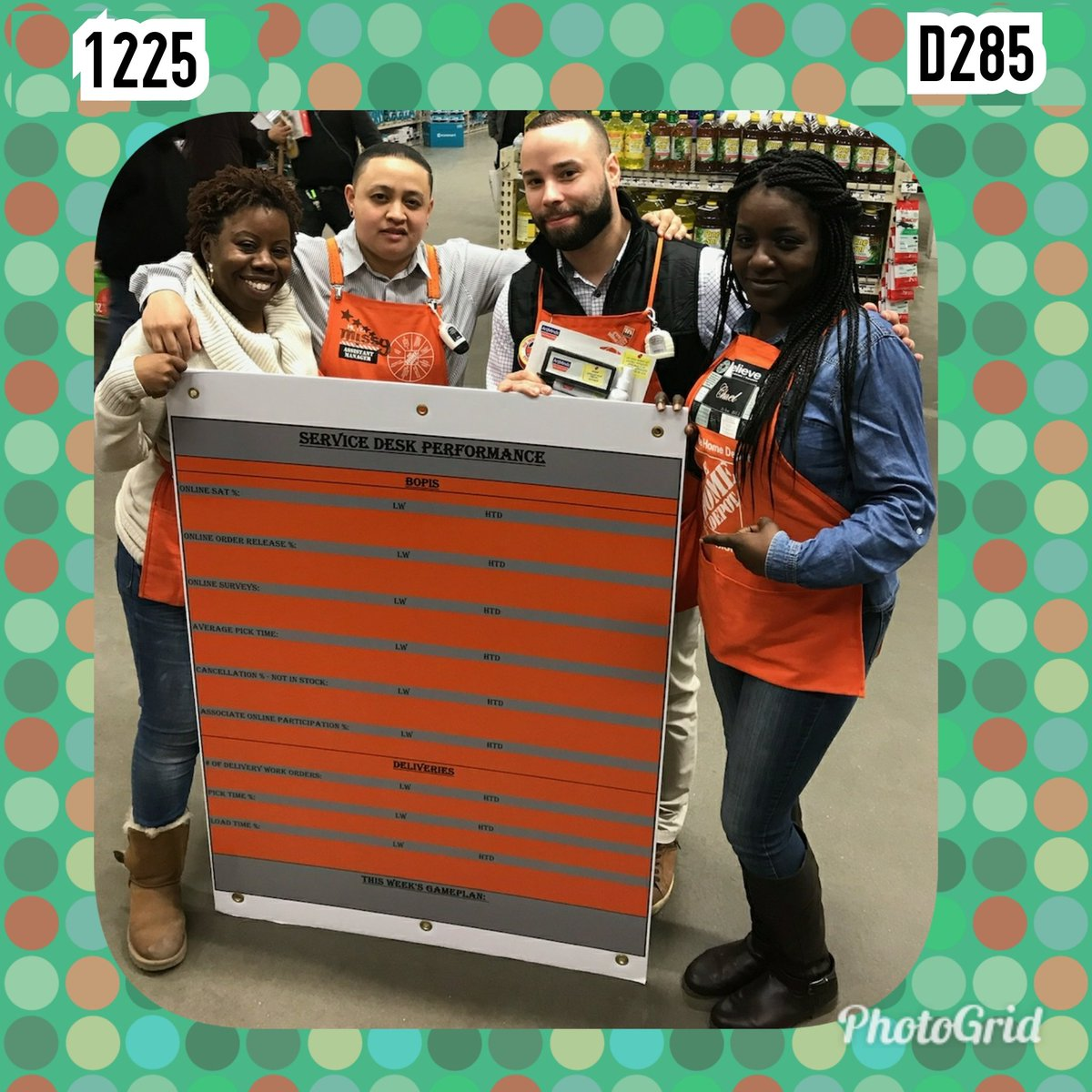Always Striving To Improve The Online Experience At Home Depot Store 1225 Receiving Their Service Desk Performance Board BelloMobellopictwitter