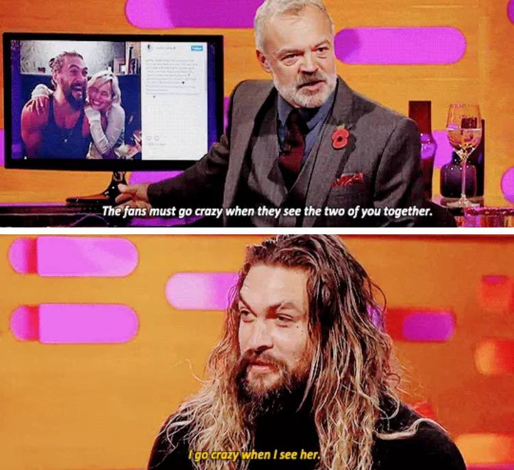 Jason Momoa Graham Norton: Jon Snow (@KingJonSnow_)