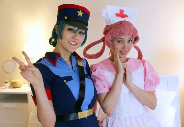 I found Nurse Joy and Officer Jenny at Tokyo Game Show! 💕
