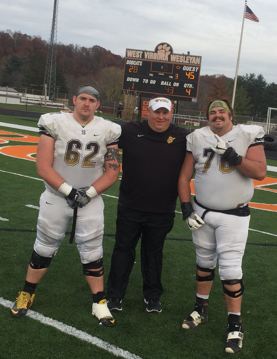 WV STATE wins 45-28!  First winning season since 2007. Very proud of our guys. Especially my senior Olineman. Thanks for giving us your best!  #FOOT~PHI <br>http://pic.twitter.com/cHyRE64w2G