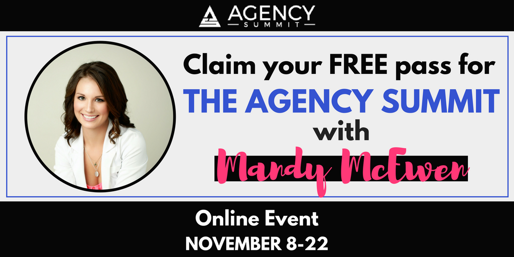 .@MandyModGirl will be speaking at The Agency Summit with 50+ other #marketing pros! Mandy's training goes live Thursday, November 16 at 12 pm EST. Don't miss your free access: https://t.co/wTRtrYyuva