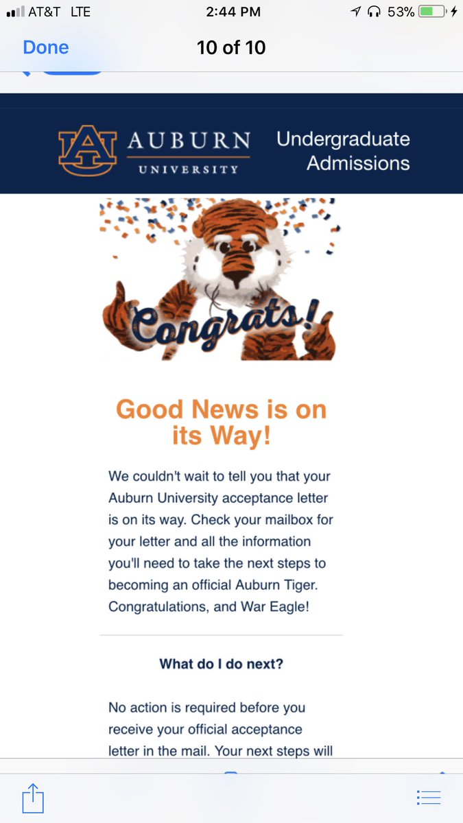 Hey AuburnAdmission Great Win Today War Eagle My Son Got These This Weekpictwitter VcExbrhirn