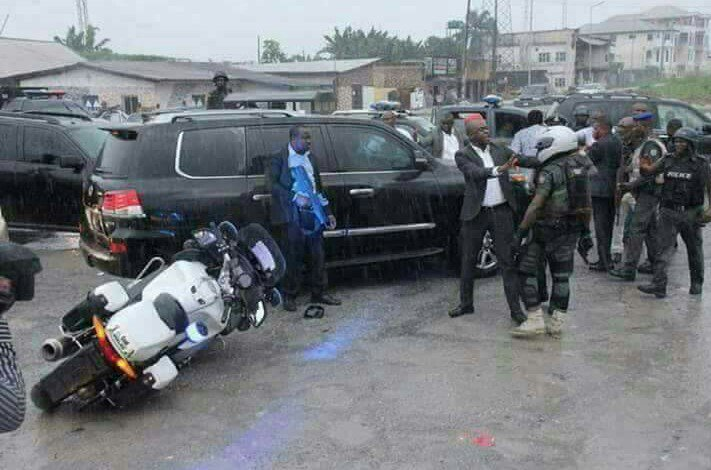 IGP Ibrahim Idris ordered the immediate sack of the dispatch rider knocked down by the convoy of the Minister of Transportation, Rotimi Amaechi.