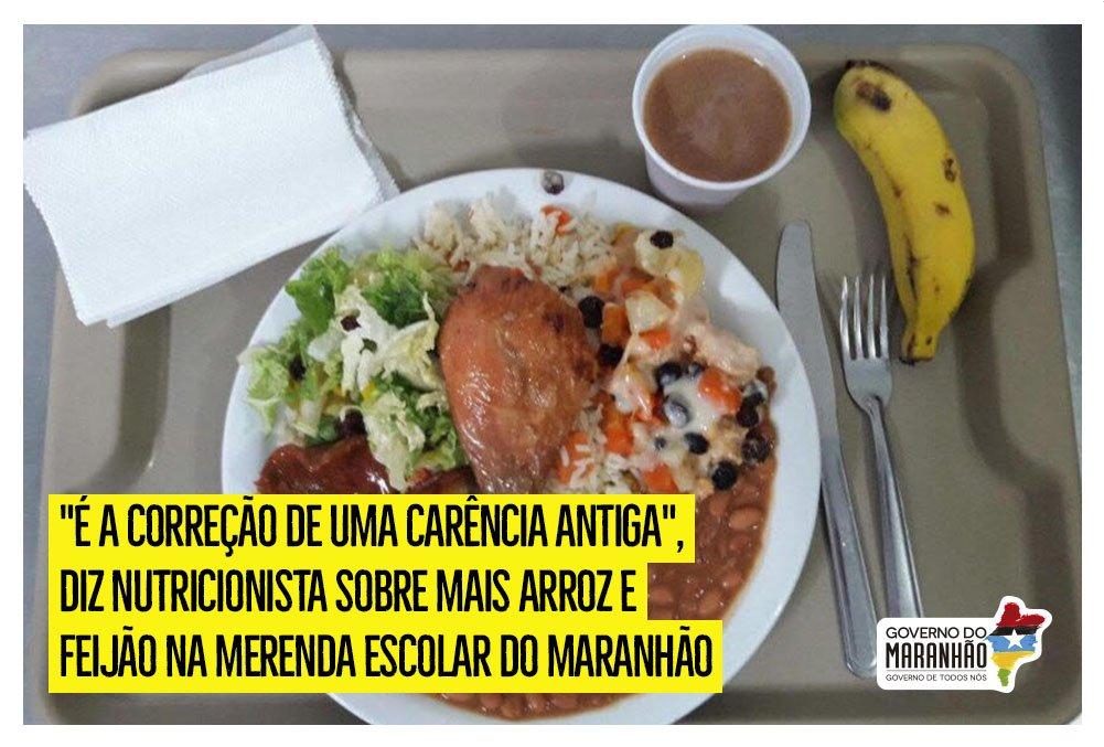 O programa Mais Alimentação Escolar vai levar arroz, feijão, macarrão, e muitos outros itens para a merenda escolar de mais de 350 mil estudantes do Maranhão https://t.co/4GpPiQsTMZ #GovernoDeTodosNós