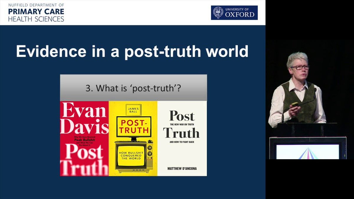 If you&#39;re concerned with #FakeNews &amp; #AlternativeFacts &amp; you have time to do one thing today, watch this video: &#39;Evidence in a post-truth world&#39; featuring the brilliant @trishgreenhalgh @animvw &amp; @ckw583   https:// buff.ly/2ihEExZ  &nbsp;  <br>http://pic.twitter.com/aIzhkYe71H
