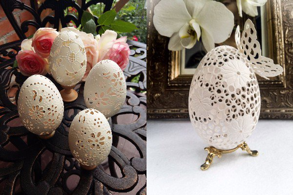 【繊細】まるでレースのよう!卵の殻をカービングした彫刻作品 https://t.co/TiJqzb19by  ウクライナ人アーティストの作品。材料はガチョウの卵だそうです。海外ショッピングサイト「Etsy」などで購入可能。