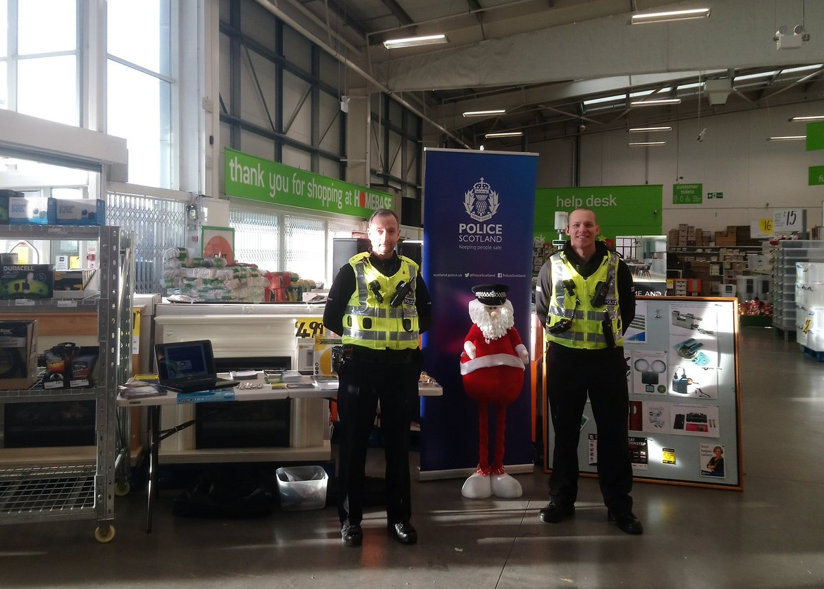 #Dumfries Community  are at homebase offering tips and advice on home/shed security. Come along! #homesecurity <br>http://pic.twitter.com/5RaC2qHy1Y