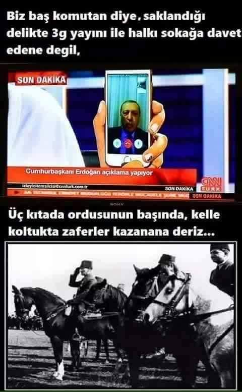 @Yuruyor Sanki Atatürk ve RTE ayni...Far...