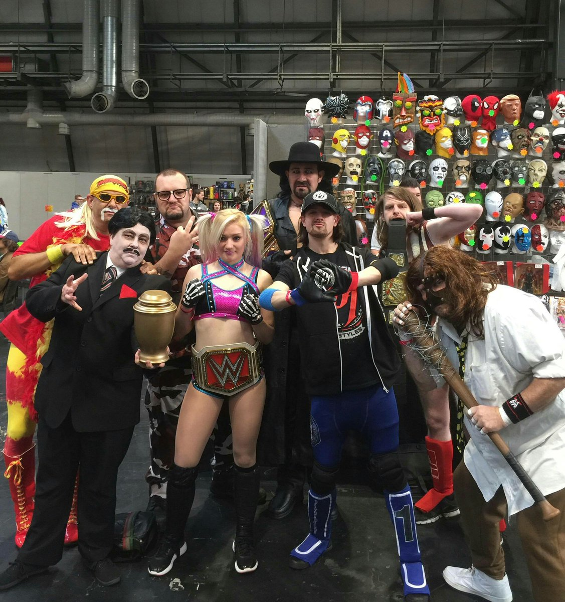 The crew is ready for day 2 in association with @TOYSANDMASKScom  #mcmBHM17 #Cosplay #Mankind #PaulBearer<br>http://pic.twitter.com/SUZQHNn38R