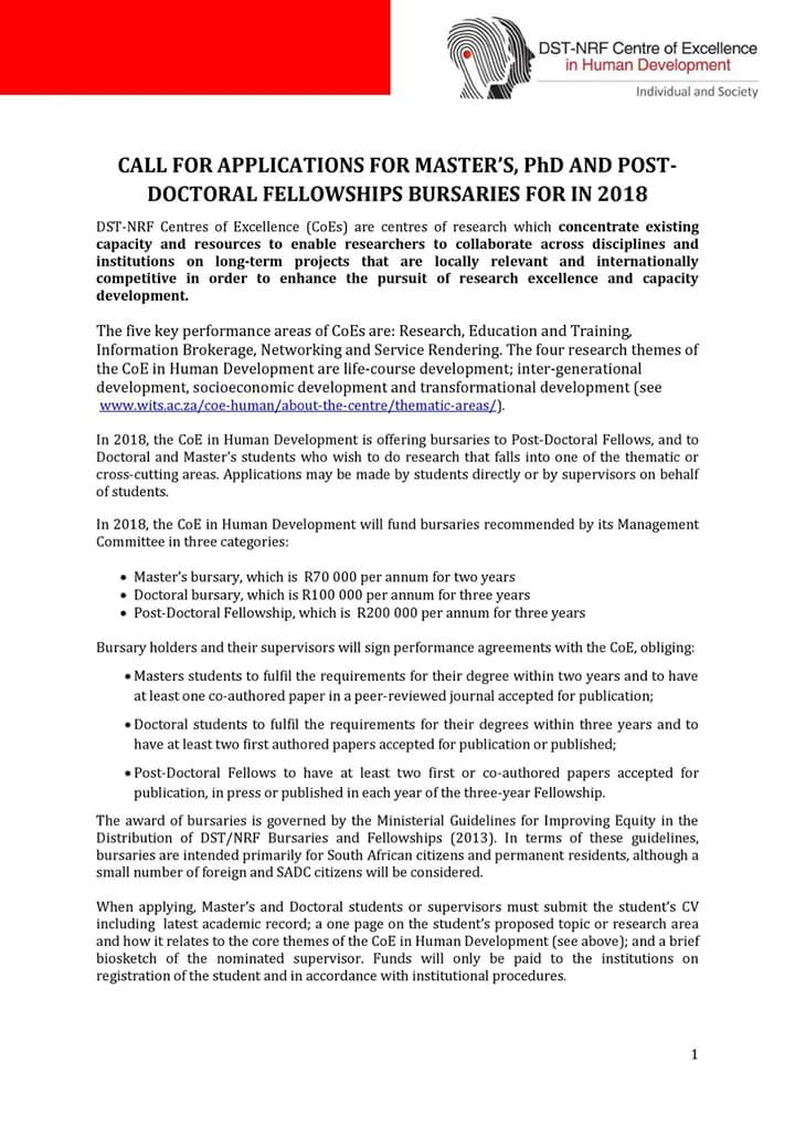 #Applications for #Masters and #Doctoral Fellowship and #Bursaries #Apply and #Share<br>http://pic.twitter.com/C5g7KsDiOE