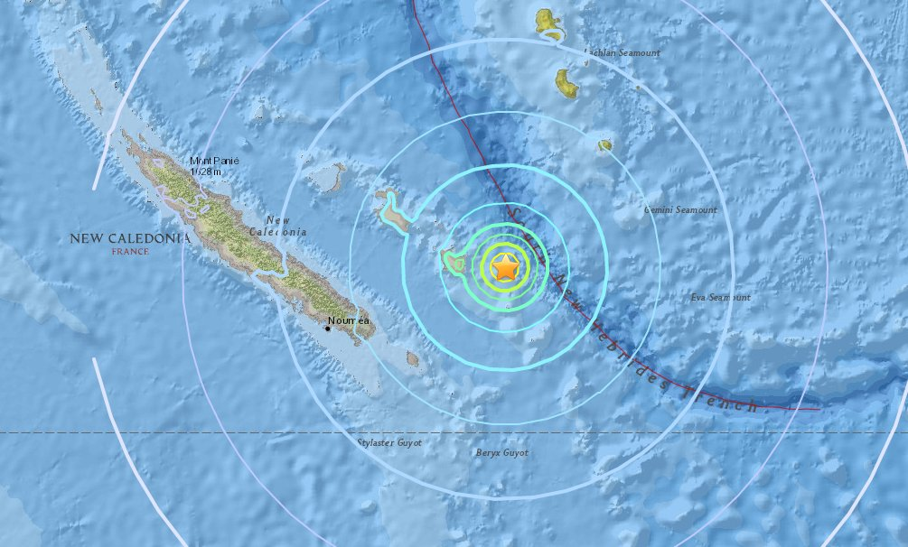 6.4 earthquake strikes off France's New Caledonia in Pacific https://t.co/F7jbXig8EW