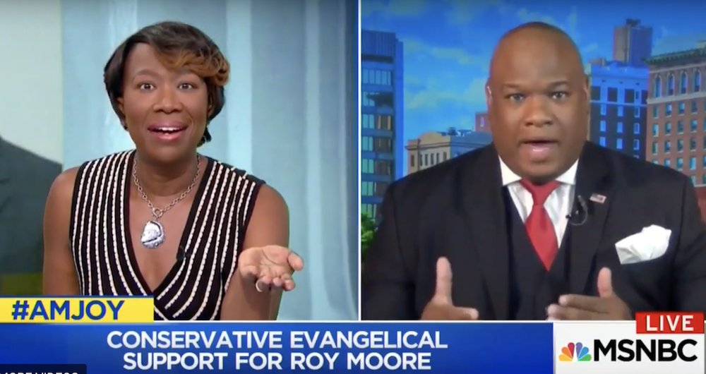 WATCH: MSNBC host tears into pro-Trump pastor for defending Roy Moore: 'Aren't you a moral leader?' https://t.co/1hT33Pw60f