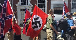 I&#39;m having difficulty finding a photo from Charlottesville with #Nazi flag flown next to a BLM group, a crowd of pink pussy hats, and/or &quot;dissent is patriotic&quot; signs.  A #confederate flag, however, is much easier to find. <br>http://pic.twitter.com/9J6cf3Fc0c