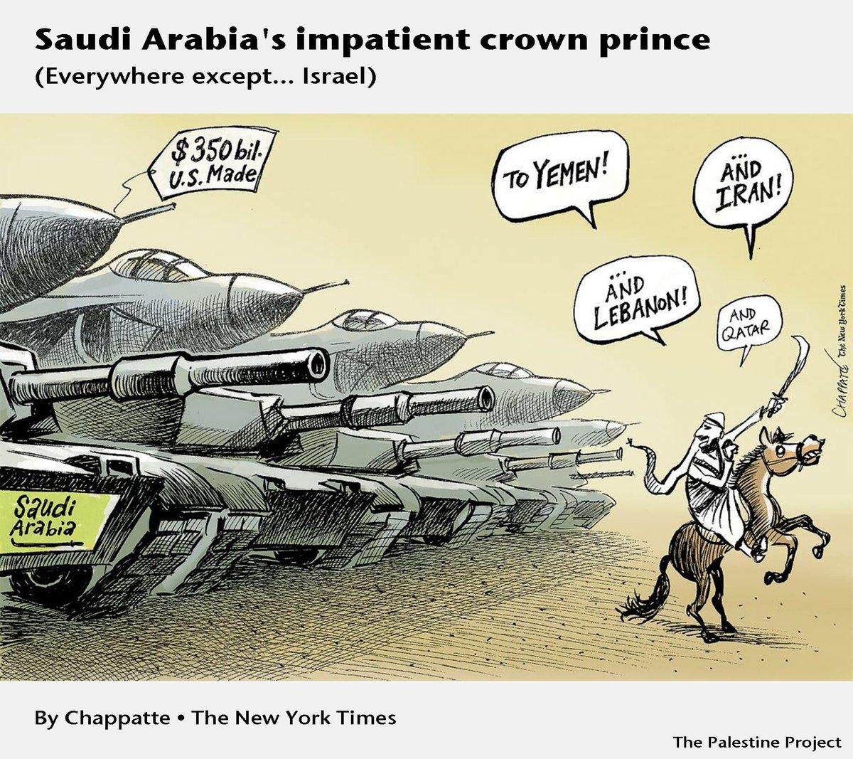 "One depiction of the ""impatient crown prince"" in the New York Times. Accurate?   #SaudiArabia #Lebanon #Qatar #Yemen #Hariri #SaadHariri #Macron #Trump #GulfCrisis #QatarCrisis #Israel <br>http://pic.twitter.com/FKjHrvwANm"