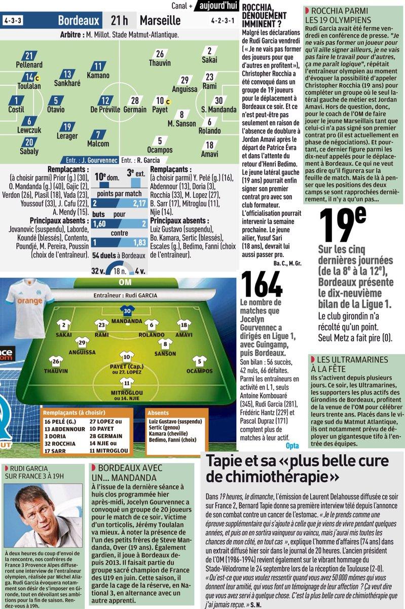 Extraits  #Mitroglou #Mandanda #Rocchia #OMD1 #OMN2  [LaProvence, L'Équipe, LeParisien ..] #TeamOM #FCGBOM #OMpic.twitter.com/vKTgNZeGdB