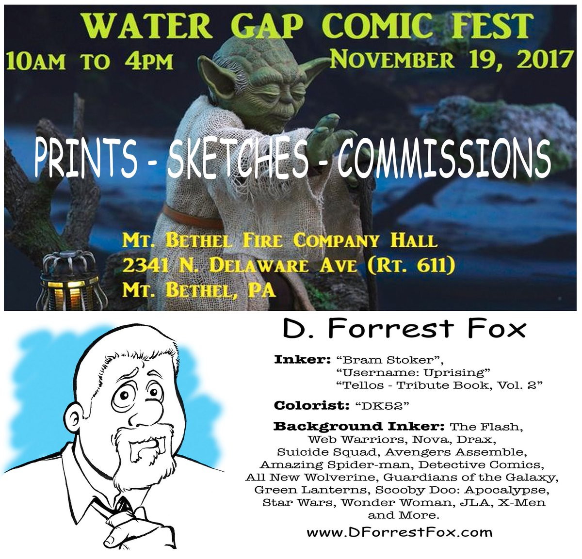 Gonna be doing a lot of sketching today...so if you're in the area, stop in and say hi. #comiccon #comics #comicbooks #marvel #dccomics #sketch #watergap #mtbethel #comicfest<br>http://pic.twitter.com/sGcJPRrFx3