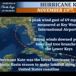 32 years ago, Hurricane Kate passed 85 miles south southwest of Key West.  Wind gusts peaked at 69 mph officially at Key West International Airport. Today in 2017, tropical cyclone formation is not expected during the next 5 days! #flkeys