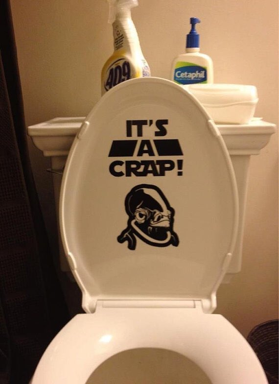 Happy (is that the right word?) #WorldToiletDay. I'm British, so that means I'm compelled to post some toilet humour on a day like today. May the Force be with you, and remember to aim like a Jedi not a Stormtrooper on the pooper.  #StarWars <br>http://pic.twitter.com/RkA54d00jp