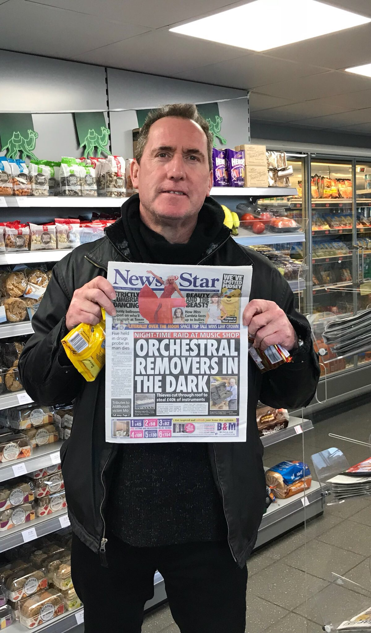 RT @OfficialOMD: Passing through Cumbria, thought we'd pick a copy of the local paper up... https://t.co/7rMhb01nl4