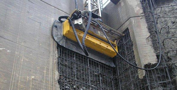 Robot que devora el hormigón