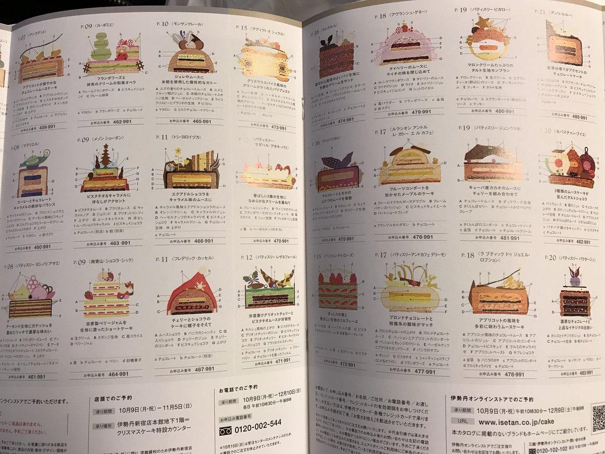 伊勢丹のクリスマスケーキカタログ、今年は去年以上に担当者の情熱が爆発していて全ケーキの断面図が掲載されている。こいつはとんでもないドスケベカタログやで…