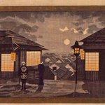 どこか葛飾応為の「吉原格子先之図」を思い起こさせるような、光と闇の表現。近代化していく明治という時代…