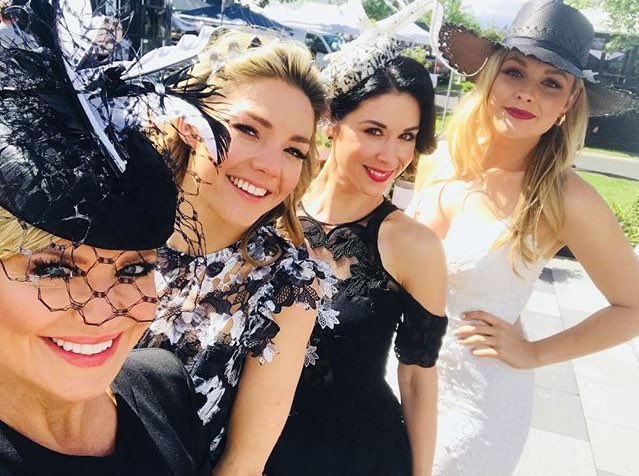 The girls looking fabulous at the #Flemington Races!  #homeandaway <br>http://pic.twitter.com/ayciLbgqk5