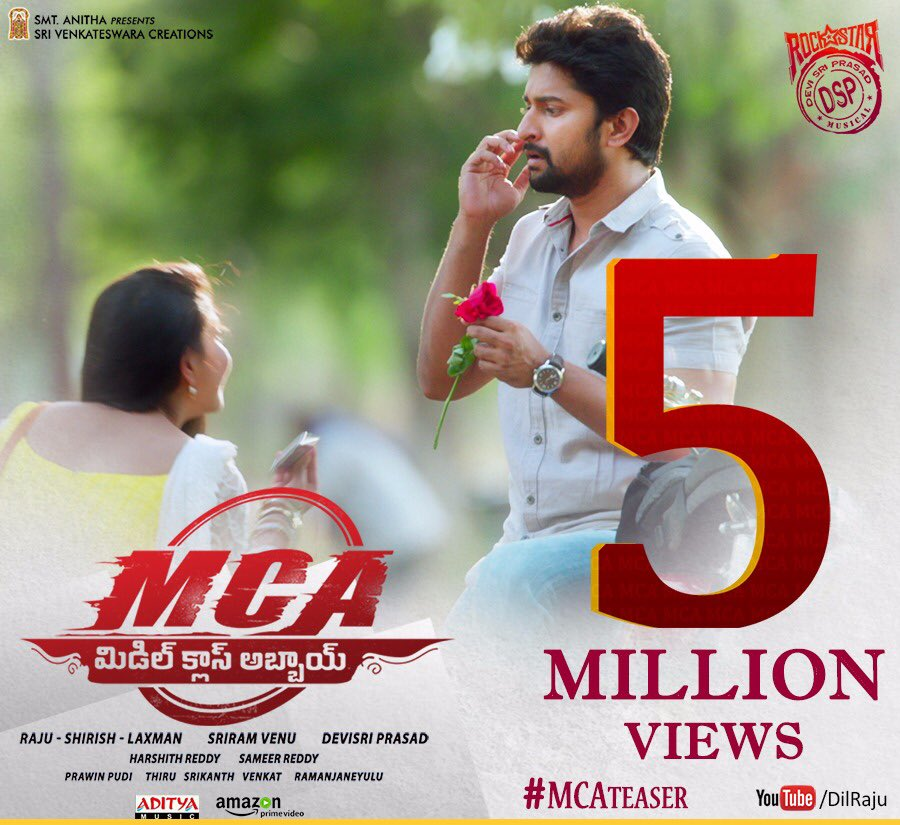 MCA: Middle Class Abbayi 5th Day Box Office Collection