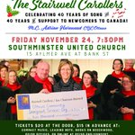 Excited that my @StairwellChoir is singing this Nov 24 benefit concert for @OttawaOCISO. Proceeds going to support OCISO's work with newcomers to Canada. Tickets are a steal at $15 in advance:  https://t.co/T1Dgx8rHPl