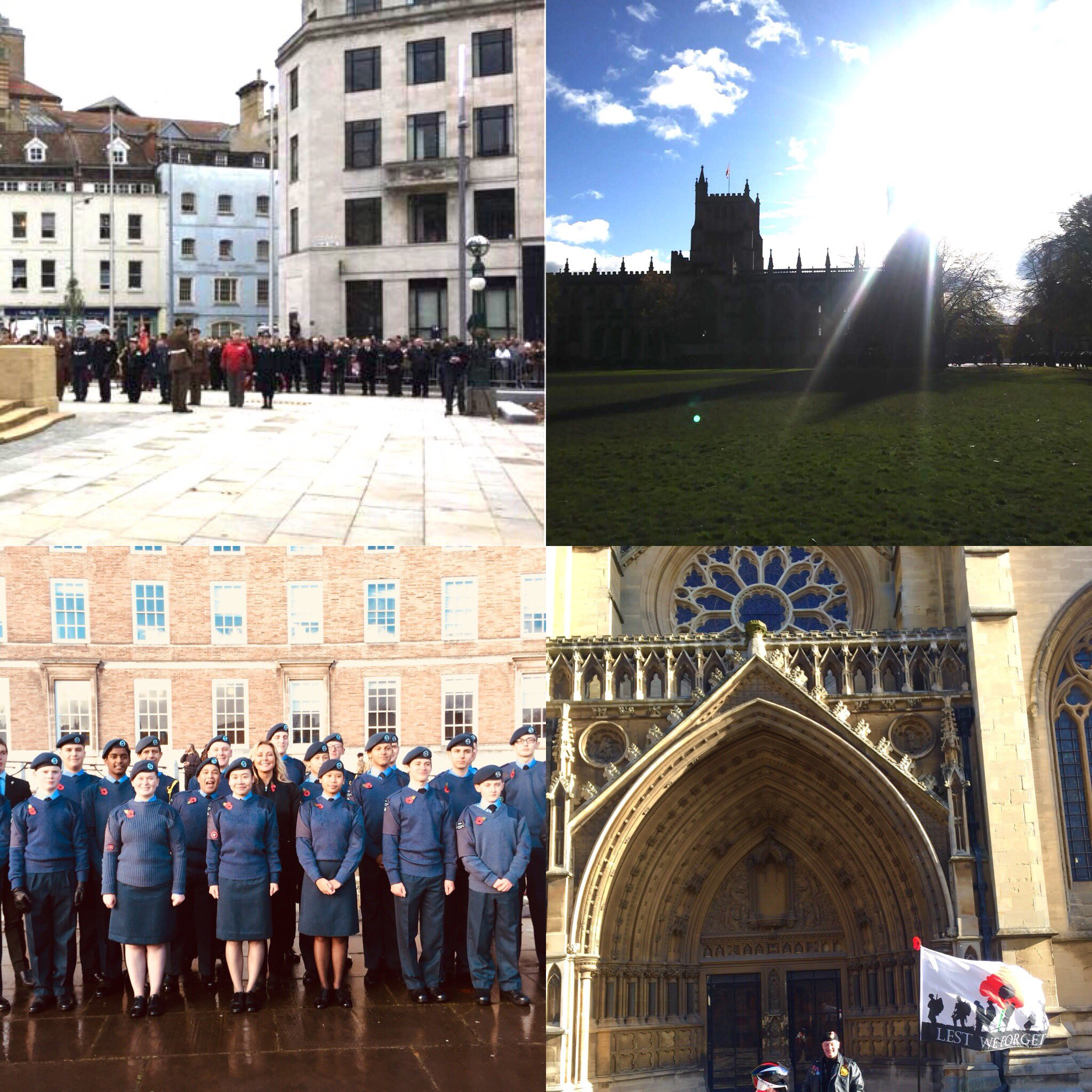 #Bristol #Cenotaph #Remembrance @aircadets #BristolCathedral....an honour to be present #LestWeForget ❤️ https://t.co/KnQdmn8OlW