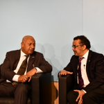 We agree with the rule set by @Schwarzenegger today: 'No one is allowed to talk about #ClimateChange without talking about health!' Thank you @FijiPM for hosting such an important event today @COP23!