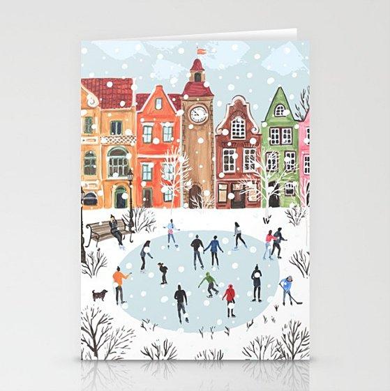 Cool #winter #greetingcards at #society6 !!! #holidays #wintertown #snow #village #architecture #art #design #snow #christmas  http:// bit.ly/2zAk05D  &nbsp;  <br>http://pic.twitter.com/BCUVNqKJfZ