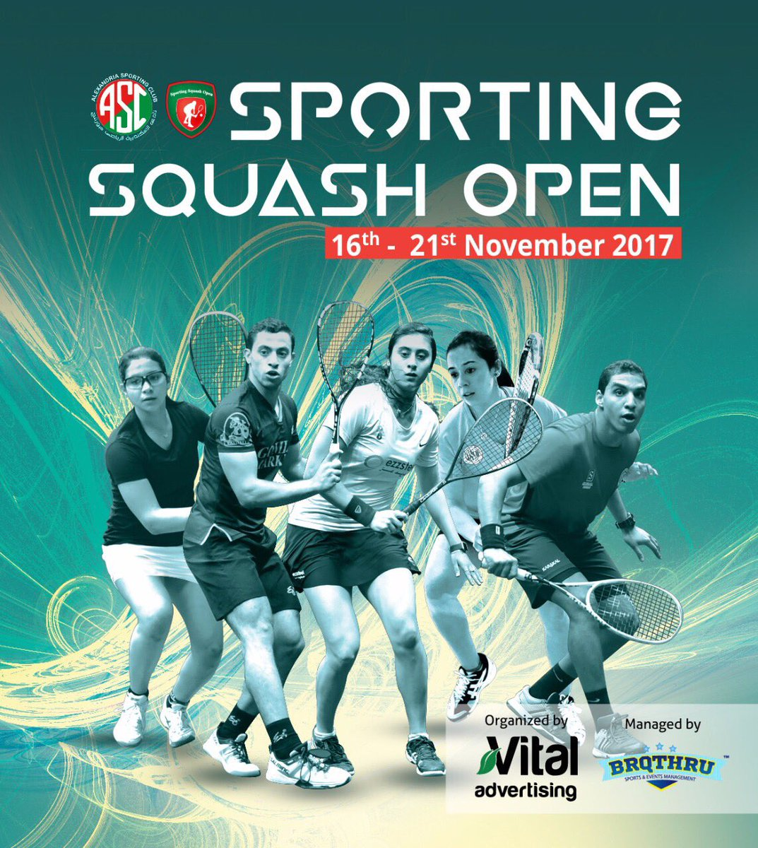 We're proud to announce that we're the managing partner for the upcoming @sportingsquashopen in Alexandria,Egypt don't miss the action from the 16th till the 21st of November #brqthru #squash #asc