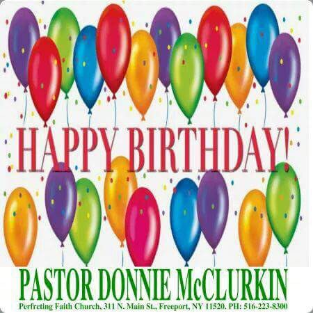 Wishing our very own Pastor Donnie McClurkin a Happy Birthday!!! Thank You for all you do