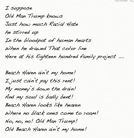 #Music #Lyrics #Words Woody Guthrie on #Fred #Trump #Housing #RealEstate #Racism #NYC #Activism  #NY  https:// theconversation.com/woody-guthrie- old-man-trump-and-a-real-estate-empires-racist-foundations-53026 &nbsp; …  &amp;  https://www. youtube.com/watch?v=jANuVK eYezs &nbsp; …  #ThisMachineKillsFascists<br>http://pic.twitter.com/NnOHTyphwu